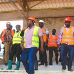Sports Minister Isaac Asiamah inspects Nyinahyin Sports Complex