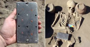 INCREDIBLE: Archaeologists discover ancient skeleton buried with '2,100 year old iPhone'