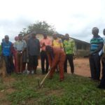 DCE cuts sod for the construction of 20-seater WC at Aduman Snr High School