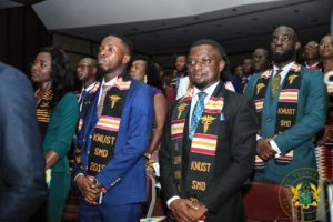 Akufo-Addo inducts 378 new doctors, dentists; announces arrival of ambulances