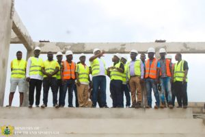 PHOTOS: Sports Minister inspects ongoing project at Dorma-Ahenkro