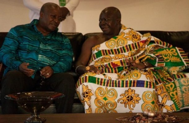 I induced Mahama to concede 2016 election defeat — Otumfuo