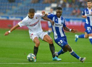 Mubarak Wakaso shines despite Sevilla defeat
