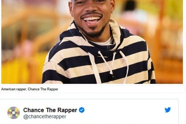 Chance The Rapper tweets about Ghana after Sarkodie's speech at BET awards
