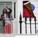 Reggae Superstar Bob Marley honoured with an English Heritage Blue Plaque in London