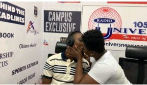 VIDEO: Kumawood Actress kisses presenter live on radio