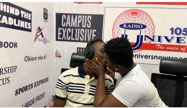 VIDEO: Kumawood Actress kisses presenter live on radio