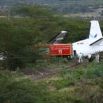Passengers hurt as plane veers off runway in Kenya