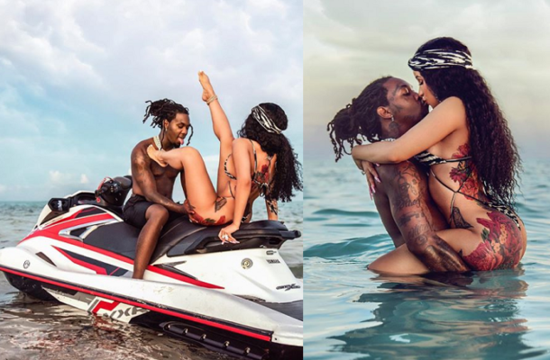 PHOTOS: Cardi B and Offset get intimate as they jet ski in Turks and Caicos