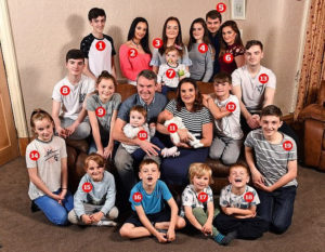 Photos: Britain's biggest family The Radfords expecting baby number twenty-two