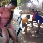 VIDEO: Lady beaten to pulp by 3 women for sleeping with a married taxi driver