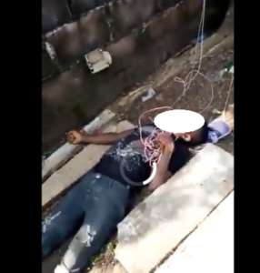 Video: Thief tragically electrocuted to death while trying to steal a wire from church