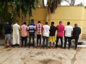 PHOTOS: 10 Internet fraudsters arrested; dangerous charms & fake currency recovered