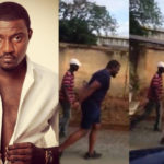 VIDEO:  John Dumelo turns garbage truck pusher ahead of parliamentary election