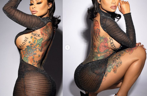 Photos: Blac Chyna showcases plenty of side boobs and bare a** in revealing dress