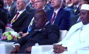 VIDEO: President Akufo-Addo 'sleeps' at Russia Africa Summit 2019