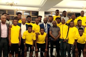 PHOTOS: GFA boss Kurt Okraku in Egypt to support Black Meteors ahead of Ivory Coast match