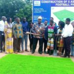 Ghana Technology Univ. cuts sod for construction of five aside football pitch