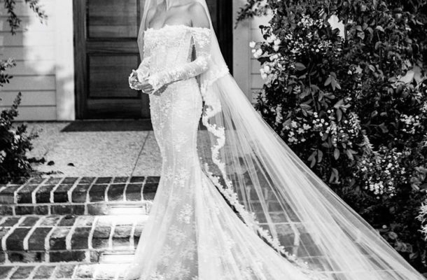 MAJOR: Ghanaian born designer, Virgil Ablorh designed Hailey Bieber's wedding gown