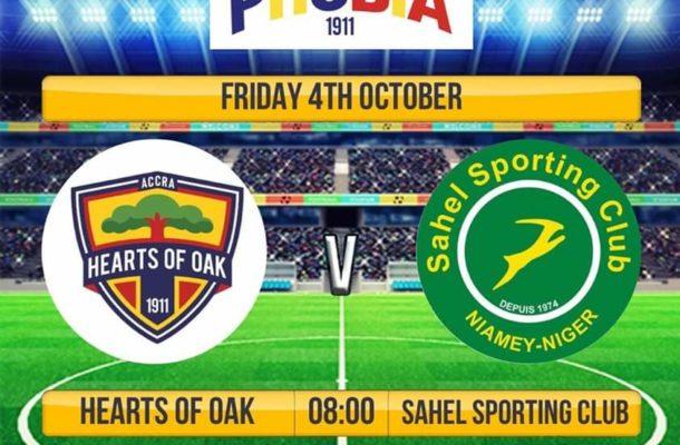 Hearts of Oak Play Nigerien side Sahel Sporting Club in international friendly