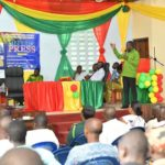 E/R: Lower Manya Krobo MCE schools journalists on Government projects