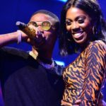 'Issa soft yansh to press' - Tiwa Savage reacts after 'smooching' with Wizkid on stage