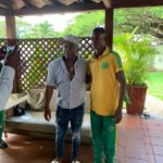 PHOTOS &VIDEO: Abedi Pele hosts Nigerien side Sahel Sc at his residence