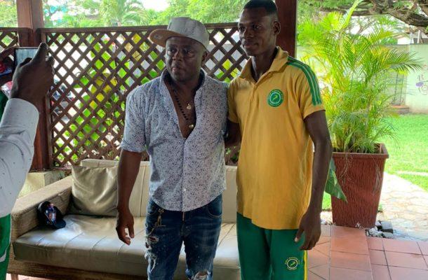 PHOTOS &VIDEO: Abedi Pele hosts Nigerien side Sahel Sc at his residence