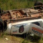 Abu Junapor's campaign vehicle involved in an accident; 3 in critical condition