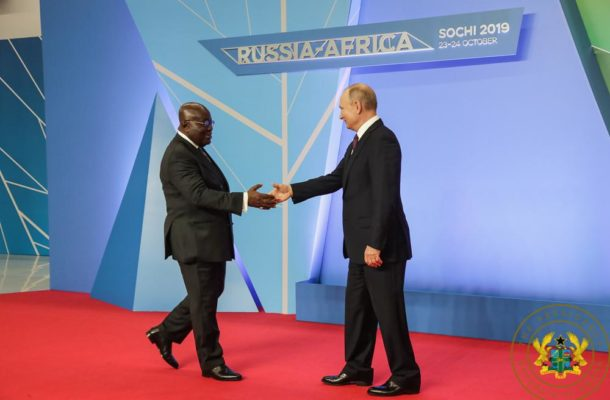 """""""Russia-Ghana relations must be based on trade and investment co-operation"""" - Akufo-Addo"""