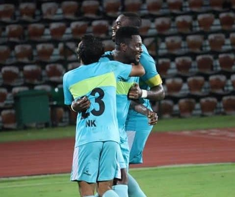 Asamoah Gyan nets first goal for Indian side in a friendly