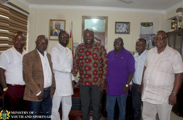 GFA Elections: Kurt Okraku pays visit to Sports Minister, presents him a copy of #GameChanger manifesto