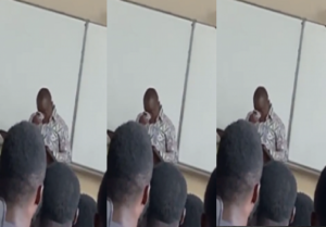 VIDEO: Prof. Gyampo sheds tears as student troll him in class over sex-for-grades scandal