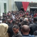 Rawlings mobbed at funeral of Peter Amewu's sister