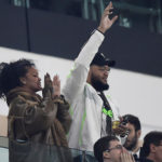 Singer Rihanna in the stands as Partey's Atlético suffers champions league defeat in Turin
