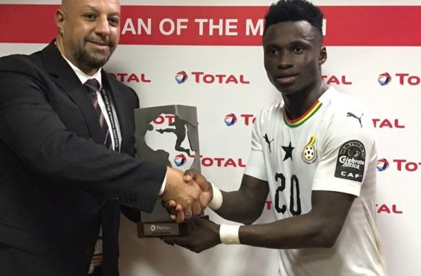 Evans Mensah named man of the Match in Ghana's 1-1 draw with Cameroon