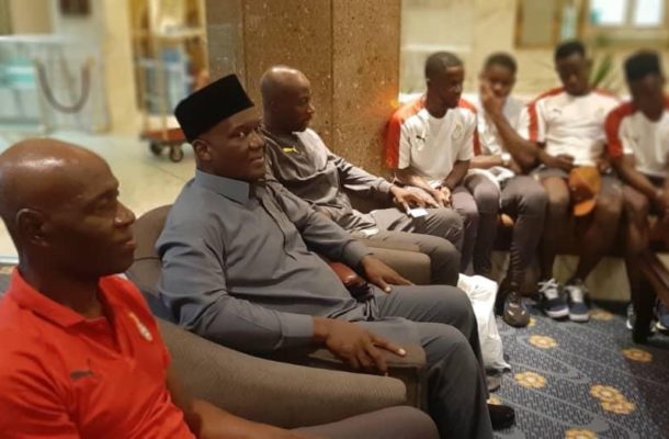 PHOTOS: Ghanaian ambassador visits black meteors in Egypt