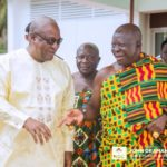 Otumfuo Osei Tutu II visits Former President Mahama