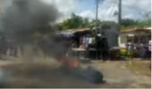 VIDEO: Policeman injured over 'no road, no vote' demo at Agona Swedru