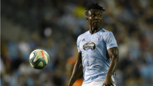 Joseph Aidoo plays in Celta Vigo's 4-1 thumping by Barcelona