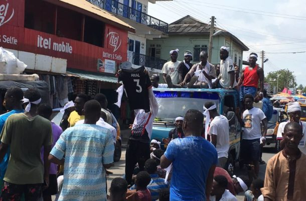 PHOTOS: Pitch invader Awal an instant hero as he is paraded through the streets