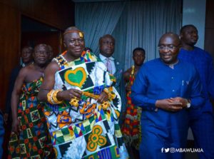 PHOTOS: Otumfuo pays courtesy call on Vice President Bawumia