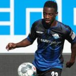 Christopher Antwi-Adjei plays in Paderborn's goalless draw with Fortuna Dusseldorf