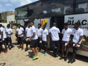 PHOTOS: Black Stars arrive safely in Cape Coast ahead of South Africa clash