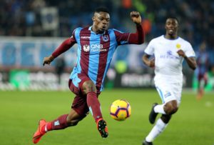 Caleb Ekuban plays in Trabzonspor's drawn game with Antalyaspor