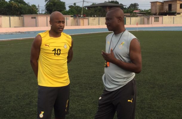 PHOTOS: Black Stars hold final training session at match venue in Sao Tome