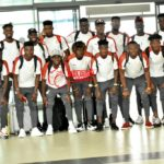 PHOTOS : Black Meteors depart for Egypt ahead of U-23 Afcon