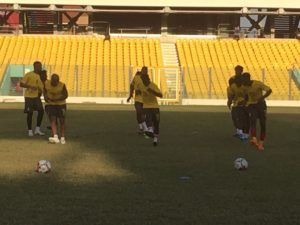 PHOTOS: Black Stars hold first training session at the Accra sports stadium