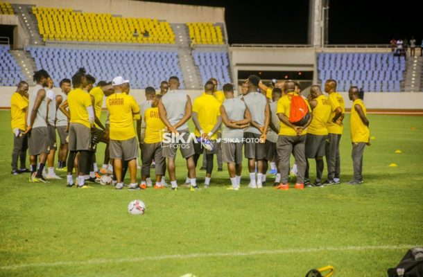 PHOTOS: Black Stars hold first training session in Cape Coast
