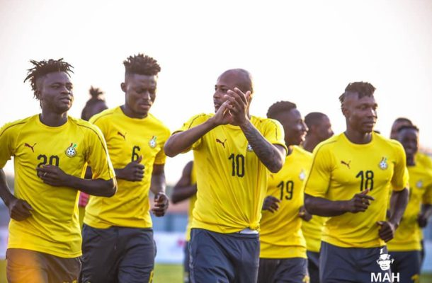 PHOTOS: Black Stars hold final training session before traveling to face Sao Tome and Principe